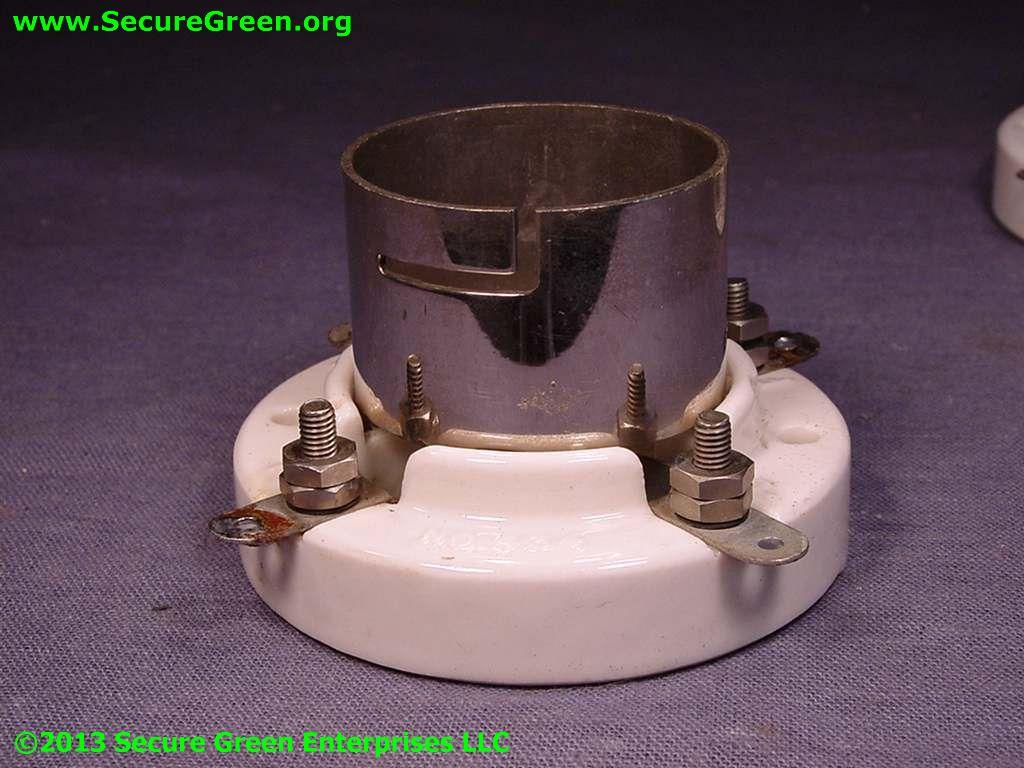 Ceramic 4 Pin Tube Socket