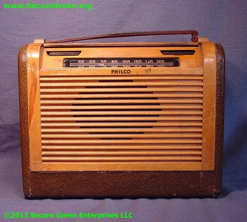 Philco Roll top Dial Cover Portable Radio