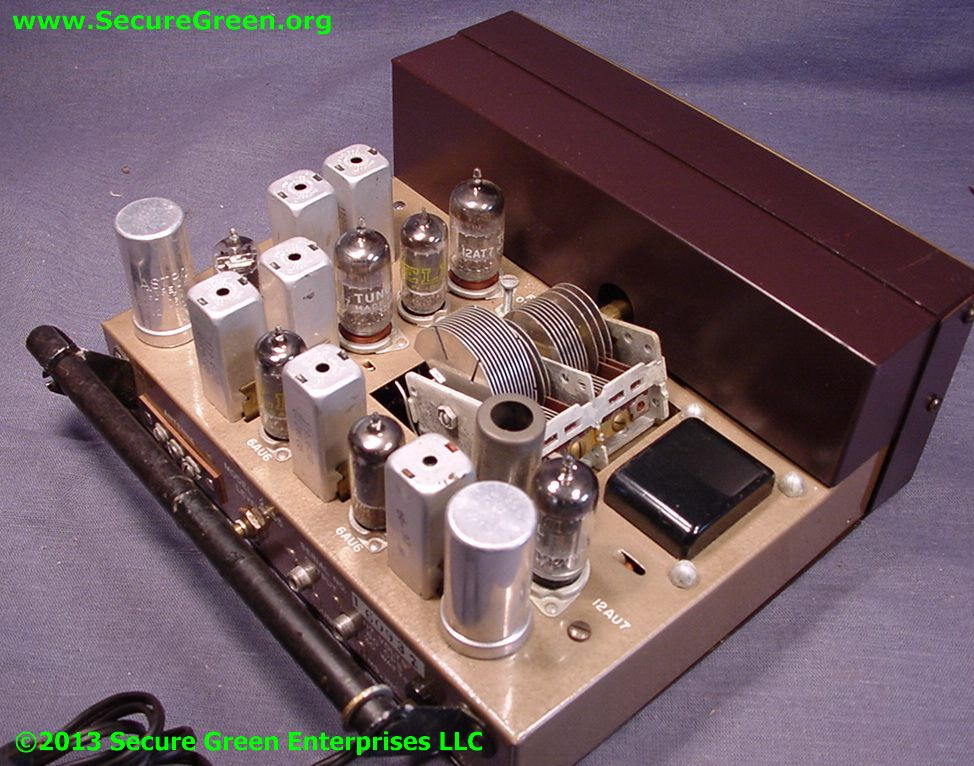 Vintage Bell receiver view inside