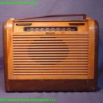 Philco Roll top Dial Cover Portable Radio